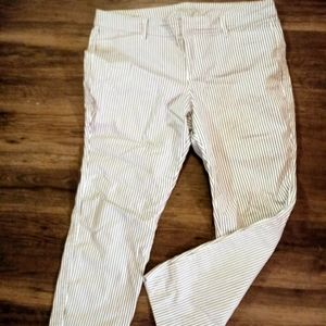 Women's Navy/White Striped Ankle Pants Size 12